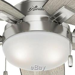 46 in. Smart Ceiling Fan with LED Light and WINK Remote Control, Brushed Nickel