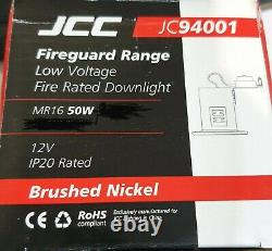 50 x Fire Rated MR16 IP20 Downlight Brushed Nickel Recessed Ceiling Spots JCC
