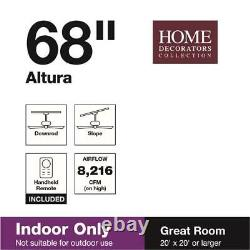 Altura 68 in. Indoor Brushed Nickel Ceiling Fan with Remote Control by HDC