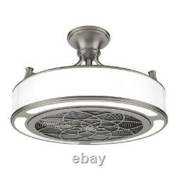 Anderson 22 LED Brushed Nickel Ceiling Fan with Remote Control CF0110