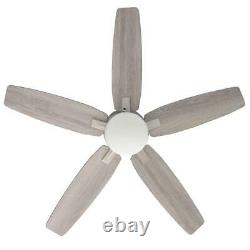 Antero 54 in. Led indoor brushed nickel ceiling fan with light hunter home new