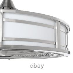 Brette II 23 in. LED Indoor/Outdoor Brushed Nickel Ceiling Fan with Light and Re