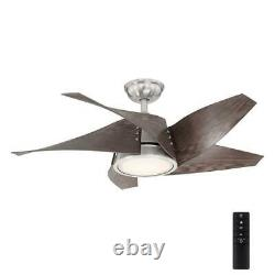 Broughton 42'' LED Brushed Nickel Ceiling Fan with Remote Control by HDC