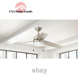 Brushed Nickel Ceiling Fan Carrington 60 Integrated LED Indoor/Outdoor Decor