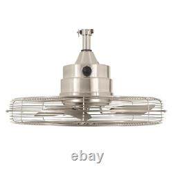 Caged Ceiling Fan 20 in. 3-Blades 745 RPM 1748 CFM 3-Speed AC Motor Wet Rated