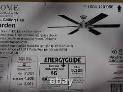 Carden 66 LED Brushed Nickel Ceiling Fan withLight & RC by Home Decorators Collec