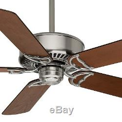 Casablanca 54 Ceiling Fan with 6-Speed DC Motor Remote Control, Brushed Nickel