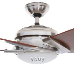 Casablanca Stealth DC 54 in. Indoor LED Ceiling Fan, Brushed Nickel with Remote