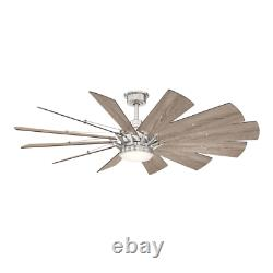 Ceiling Fan Light 60 in. Dimmable DC Motor Frosted Glass Indoor Remote Included