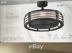 Fanimation FP7964BN, Beckwith Brushed Nickel Uplight 13 Ceiling Fan with Remote