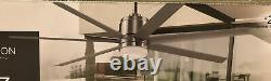 Fanimation Studio 56 in. Blitz Brushed Nickel 7 Blades LED Ceiling Fan with Remote