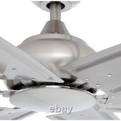 Fenceham 84 In. Brushed Nickel Ceiling Fan With Remote Control