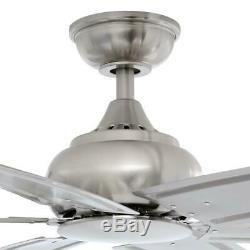 Fenceham 84 in. Indoor B. Nickel Ceiling Fan withRemote Control by Home Decorators