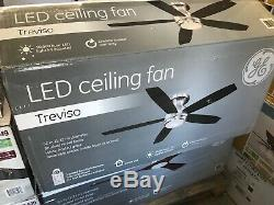 GE Treviso 52 in. Brushed Nickel Indoor LED Ceiling Fan. / 467.149A