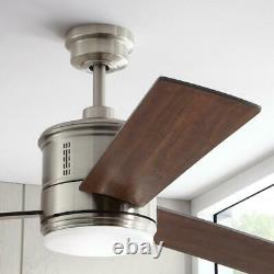 Gamali 60 in. LED Indoor Brushed Nickel Ceiling Fan with Light Kit & Remote by HDC