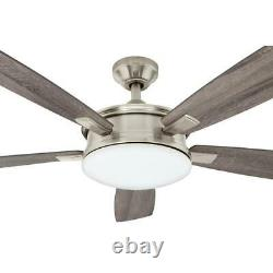 HDC Anselm 54 in. Indoor Brushed Nickel Ceiling Fan with LED Light Kit and Remote
