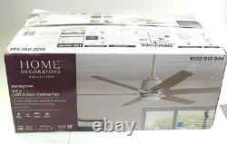 HOME DEC Kensgrove 54 in. Integrated LED Brushed Nickel Ceiling Fan YG493A-BN