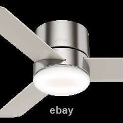 HUNTER 44 Low Profile Remote Control Ceiling Fan Minimus Brushed Nickel 59454