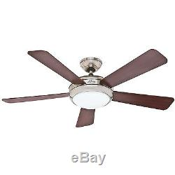 HUNTER 52 Palermo Brushed Nickel Ceiling Fan with Light 59052