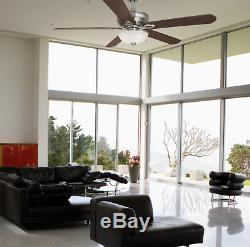 Hampton Bay Asbury 60 in. LED Indoor Brushed Nickel Ceiling Fan with Light Kit a