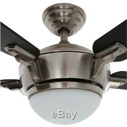 Hampton Bay Midili 44 in. LED Indoor Brushed Nickel Ceiling Fan with Light Kit