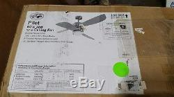 Hampton Bay Pilot 60 in / 50 in. Brushed Nickel Ceiling Fan with Light & Remote 21