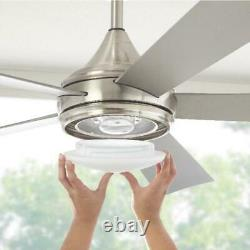 Hanlon 52 in. Integrated LED Indoor/Outdoor Stainless Steel Ceiling Fan