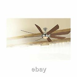 Harbor Breeze Hydra 70 Inch Brushed Nickel Indoor Ceiling Fan with Light and