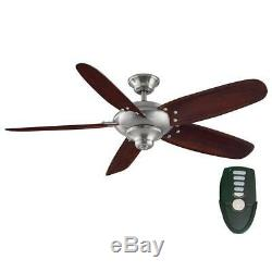 Home D. C. Altura 56 Indoor Brushed Nickel Ceiling Fan with Remote Control