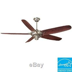 Home Decorators Altura 68 in. Indoor Brushed Nickel Ceiling Fan with Remote