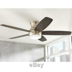 Home Decorators Ashby Park 52 Int. LED B. Nickel Ceiling Fan withLight & Remote C