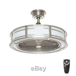 Home Decorators Brette II Brushed Nickel Ceiling Fan with LED Light and Remote