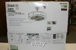 Home Decorators Brette LED 23 In Indoor Covered Outdoor Drum Ceiling Fan NEW