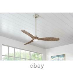 Home Decorators Canterbury 60 in. LED Indoor Brushed Nickel Ceiling Fan