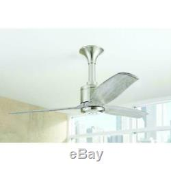 Home Decorators Chaplin 52 in. Indoor Brushed Nickel Ceiling Fan with Remote
