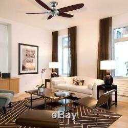 Home Decorators Col Altura 68 in. Indoor Brushed Nickel Ceiling Fan withRemote