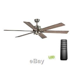 Home Decorators Collection 51770 Statewood 70 in. LED Brushed Nickel Ceiling Fan