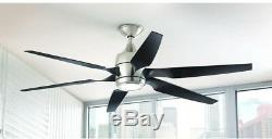 Home Decorators Collection 60 Inch Ceiling Fan LED Indoor Modern Brushed Nickel
