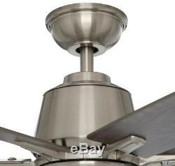 Home Decorators Collection 64 in. LED Brushed Nickel Ceiling Fan Remote Control