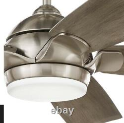 Home Decorators Collection Camrose 60 Integrated LED Brushed Nickel Ceiling Fan