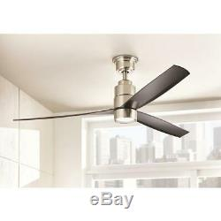 Home Decorators Collection Cirino 52 in. LED Brushed Nickel Ceiling Fan