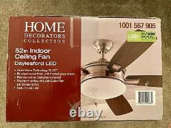 Home Decorators Collection Daylesford 52 LED Indoor Ceiling Fan, Brushed Nickel