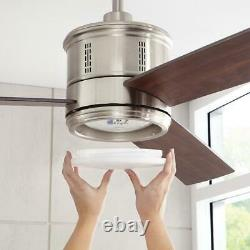 Home Decorators Collection Gamali 60 in. LED Indoor Brushed Nickel Ceiling Fan