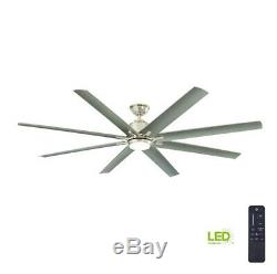 Home Decorators Collection Kensgrove 72 LED In/Out Brushed Nickel Ceiling Fan