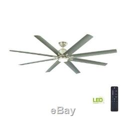 Home Decorators Collection Kensgrove 72 LED In/Outdoor BrushedNickel CeilingFan