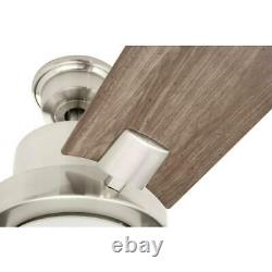Home Decorators Collection Radley 60 in. LED Brushed Nickel Ceiling Fan withLight