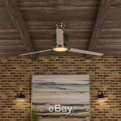 Home Decorators Collection Railey 60 in. Brushed Nickel LED Ceiling Fan
