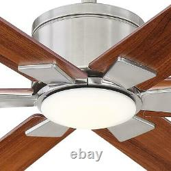 Home Decorators Collection Renwick 60 in. Integrated LED Indoor Brushed Nickel