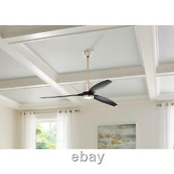 Home Decorators Collection Triplex 60 in. LED Brushed Nickel Ceiling Fan