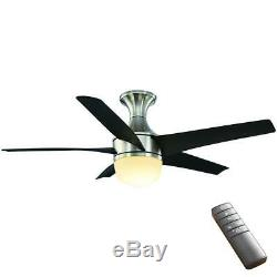 Home Decorators Collection Tuxford 44 in. LED Indoor Brushed Nickel Ceiling Fan